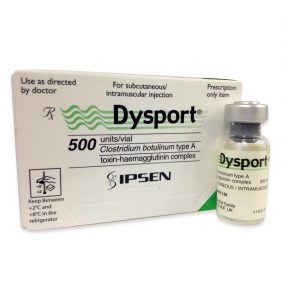 Dysport packaging and bottle